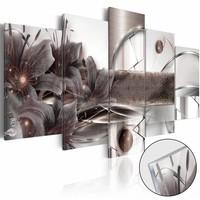 Afbeelding op acrylglas - Ruimte Energie, Grijs, 2 Maten, 5luik