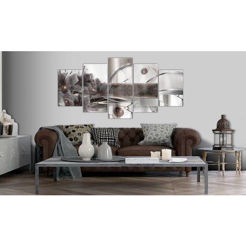 Afbeelding op acrylglas - Ruimte Energie, Grijs,   5luik
