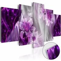 Afbeelding op acrylglas - Utopia in het paars, 2 Maten, 5luik