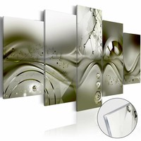 Afbeelding op acrylglas - Groene Configuratie,   5luik