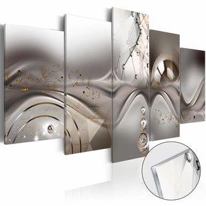 Afbeelding op acrylglas - Majesteit van de Symmetrie, Grijs, 2 Maten, 5luik