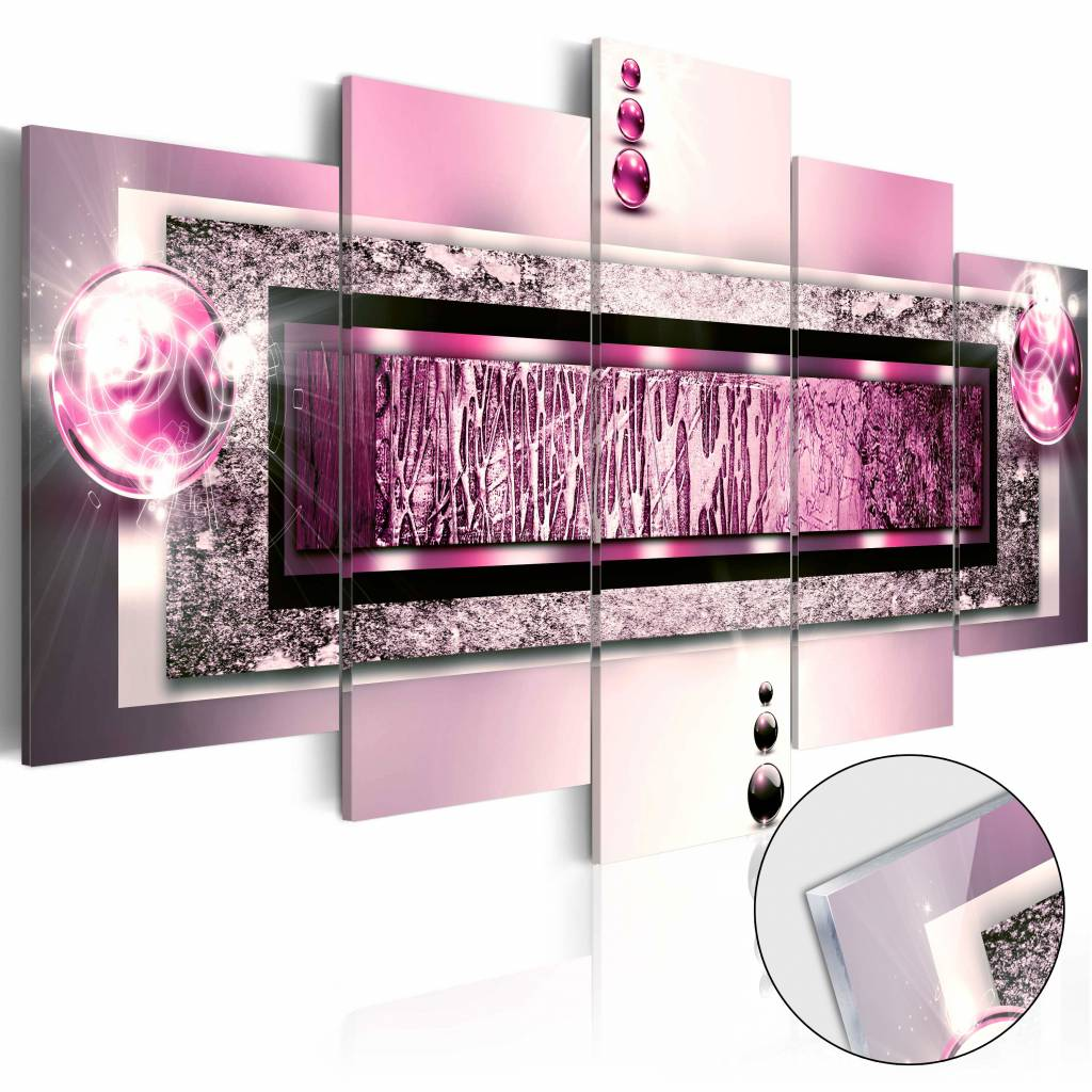 Afbeelding op acrylglas - Droom in het roze, 5luik