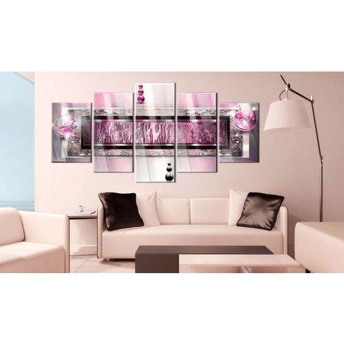 Afbeelding op acrylglas - Droom in het roze, 2 Maten, 5luik