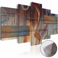Afbeelding op acrylglas - Compositie uit de Orient, Bruin/Grijs,  5luik