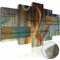 Afbeelding op acrylglas - Exotische opmerking, Multi-gekleurd, 2 Maten, 5luik