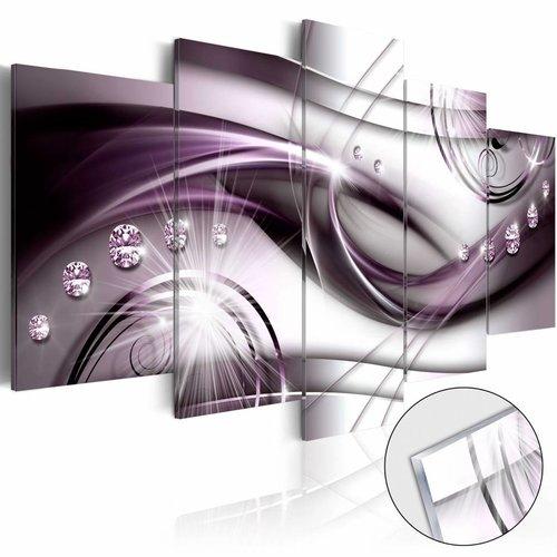 Afbeelding op acrylglas - Violet Glow [Glass]