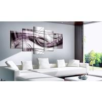 Afbeelding op acrylglas - Violet Glow , Paars, 2 Maten, 5luik