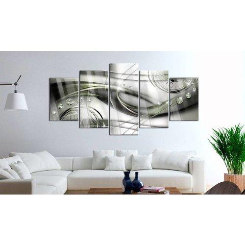 Afbeelding op acrylglas - The Wave of Green Glow [Glass]