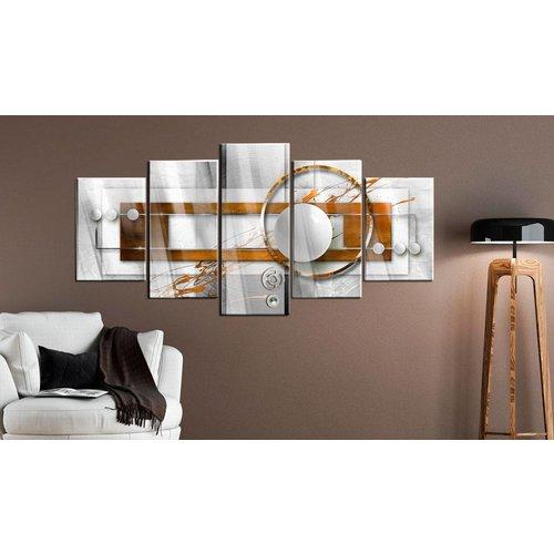 Afbeelding op acrylglas - Energie in het bruin, 2 Maten, 5luik