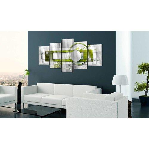 Afbeelding op acrylglas - Energie in het groen, 2 Maten, 5luik