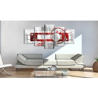 Afbeelding op acrylglas - Energie, Rood, 2 Maten, 5luik