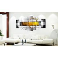Afbeelding op acrylglas - Gouden schot, 2 Maten, 5luik