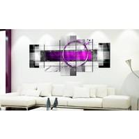 Afbeelding op acrylglas - Abstract in het violet,   5luik