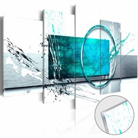 Afbeelding op acrylglas - Turquoise Expression, 2 Maten, 5luik