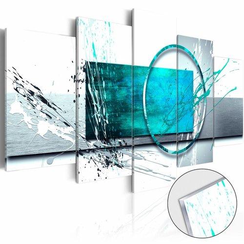 Afbeelding op acrylglas - Turquoise Expression,   5luik