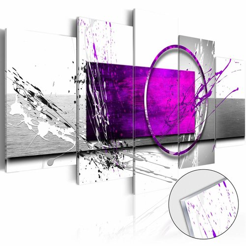 Afbeelding op acrylglas - Purple Expression [Glass]