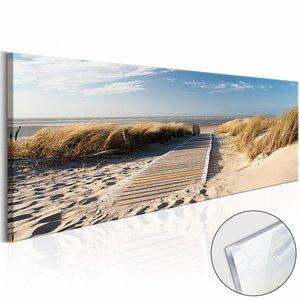 Afbeelding op acrylglas - Uitzicht op Noordzee, Multi-gekleurd, 2 Maten, 1luik