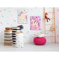 Doe-het-zelf op canvas schilderen - Unicorns (Pastel Colours)