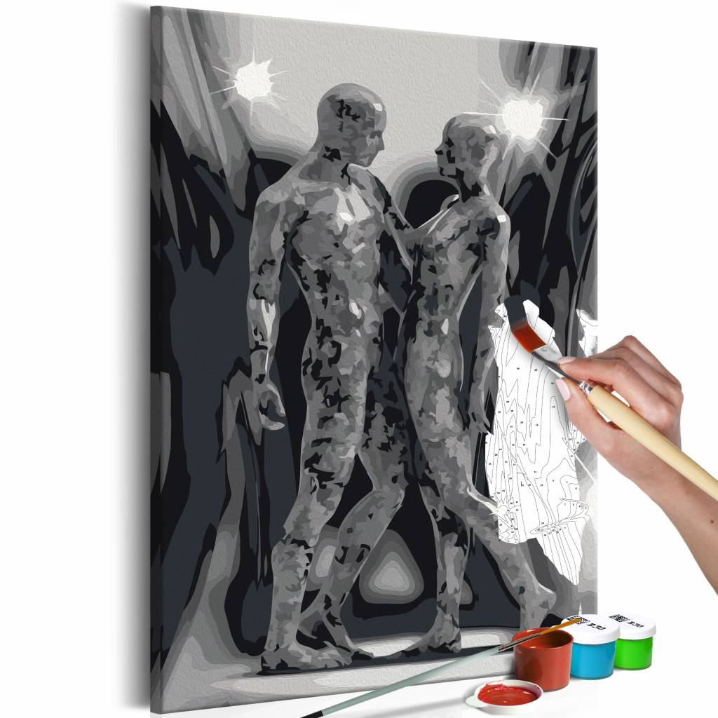 Doe-het-zelf op canvas schilderen - Couple 40x60cm