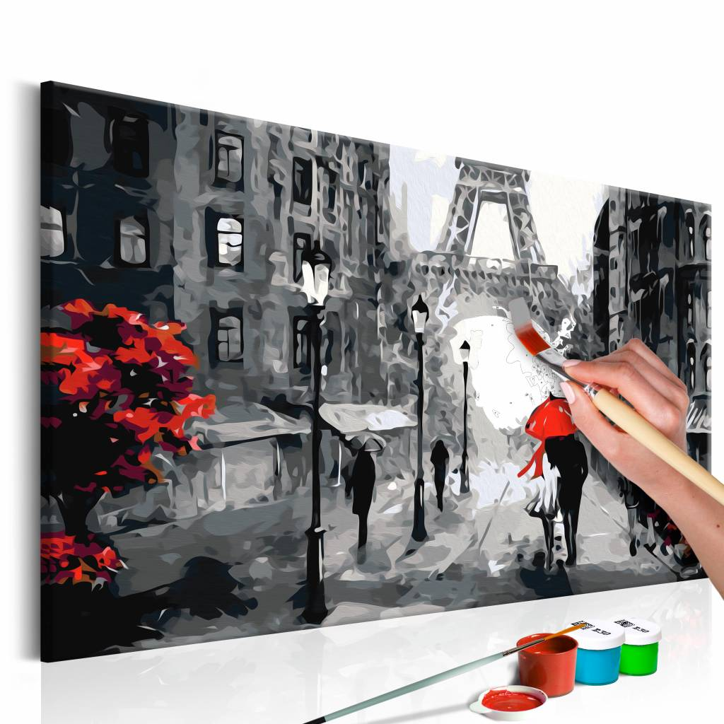 Doe-het-zelf op canvas schilderen - From Paris With Love 60x40cm