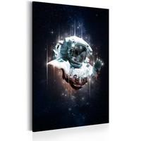 Schilderij - Astronaut - Cosmic Wanderer, 1 deel, 2 maten , zwart wit