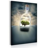 Schilderij - Journey Of Nature, 1 deel,  Zwart/Groen
