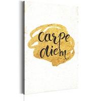 Schilderij - My Home: Carpe Diem, 1 deel,  Zwart/Bruin