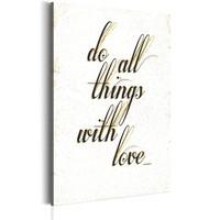 Schilderij - My Home: Things With Love, Zwart/Wit
