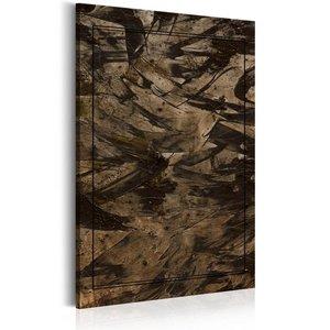 Schilderij - Mysterie van de duisternis, 1 deel, 2 maten , bruin