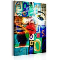Schilderij - Moderne tijd, 1 deel, 2 maten , multi kleur