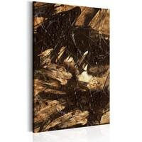 Schilderij - Vogels van de duisternis, 1 deel, 2 maten , bruin