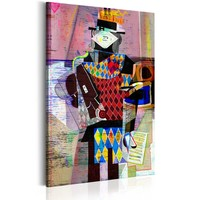 Schilderij - Melodie Van De Moderniteit, 1 deel,  Multi kleur
