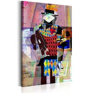 Schilderij - Melodie van de moderniteit, 1 deel, 2 maten , multi kleur