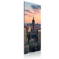 Schilderij - Empire state building, New York, 1 deel, 2 maten , multi kleur