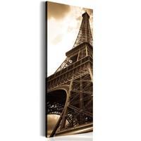 Schilderij - Eiffeltoren, Sepia,  Beige/Bruin
