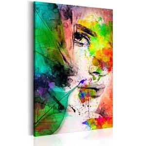 Schilderij - Colors of Feminity, 1 deel, 2 maten , multi kleur