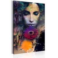 Schilderij - Sensual Girl, 1 deel, 2 maten , multi kleur