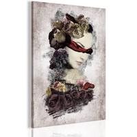 Schilderij - Mysterieuze Dame