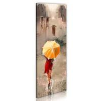 Schilderij - On a rainy day, 1 deel, 40x120 , multi kleur