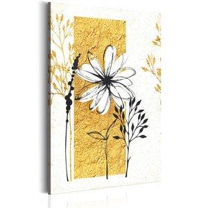 Schilderij - Mijn huis, gouden tuin, geel/wit, 1 deel, 2 maten
