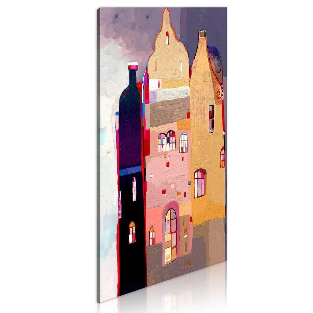 Schilderij - Prachtig herenhuis, 1 deel, 1 maat , multi kleur