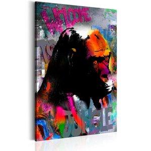 Schilderij - Welcome to the Jungle, multikleur, 1 deel, 2 maten , multi kleur