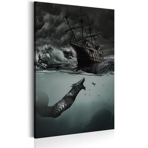 Schilderij - Geheimen van de oceaan, 1 deel, 2 maten