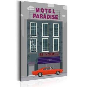 Schilderij - Motel Paradise, 1 deel, 2 maten