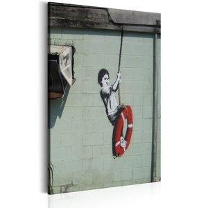 Schilderij - Swinger, New Orleans - Banksy, 1 deel, 2 maten
