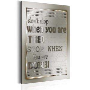 Schilderij - Teksten - Don't Stop, 1 deel, 2 maten
