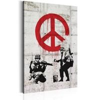 Schilderij -  Soldaten voor de vrede, Banksy
