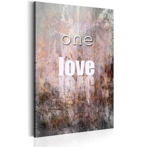 Schilderij - One Love, 1 deel, 2 maten , multi kleur