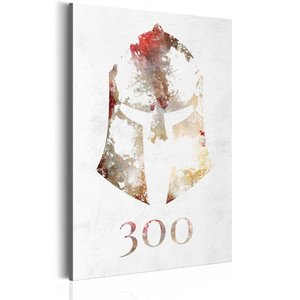 Schilderij - Sparta - 300, 1 deel, 2 maten , wit , multi kleur