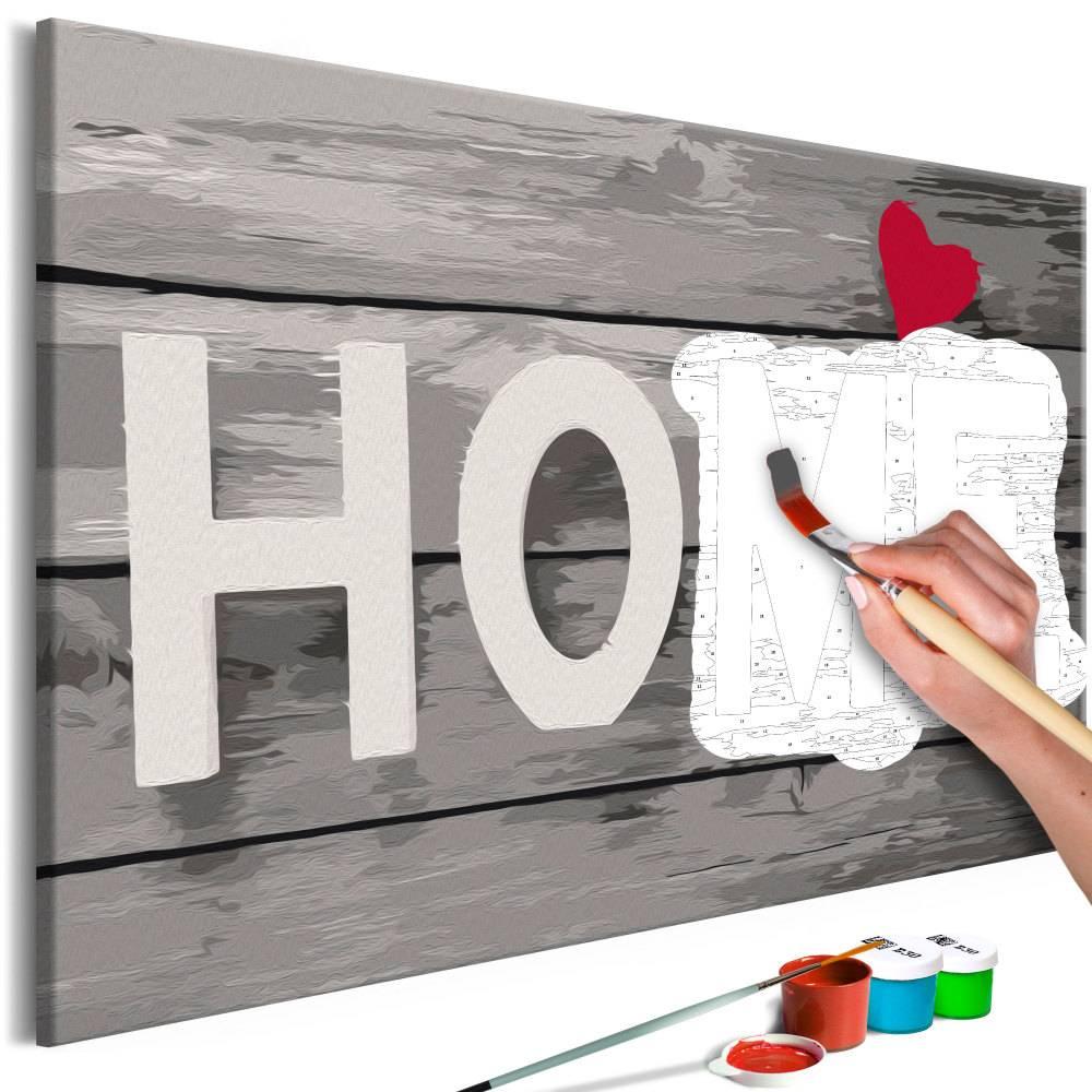 Doe-het-zelf op canvas schilderen - Home 60x40cm